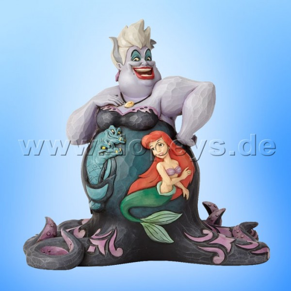 "Disney Traditions / Jim Shore Figur von Enesco ""Deep Trouble (Ursula mit Szene)"" 4059732"