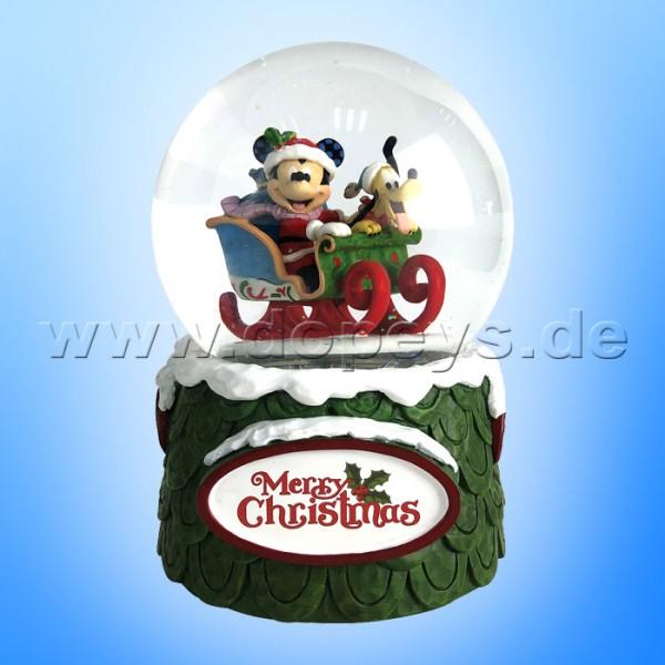 Disney Traditions - Mickey & Pluto Schneekugel Spieluhr 120mm von Jim Shore 6009581