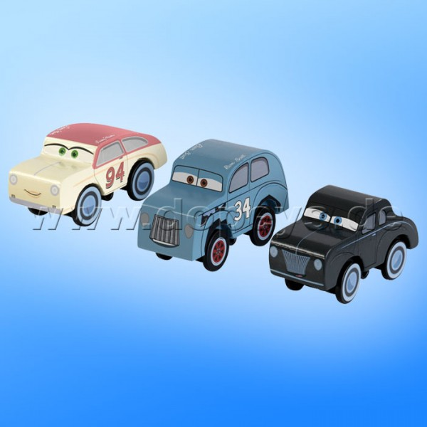 "Disney Pixar Cars 3 Set - Legends von Kidkraft (River Scott, Tucker Moon & Louise ""Barnstormer"" Nash) 17215"