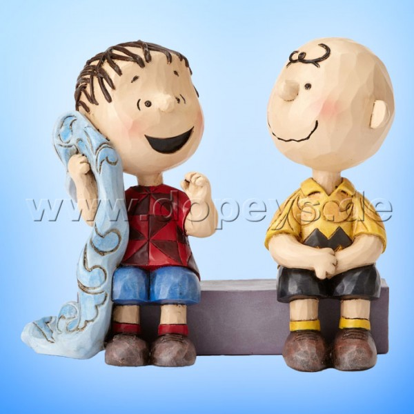 "Peanuts / Jim Shore Figur von Enesco.""Sage Advice (Charlie Brown und Linus)"" 4054081."
