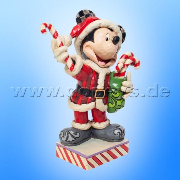 Disney Traditions - Peppermint Surprise (Mickey als Weihnachtsmann mit Zuckerstangen) von Jim Shore 6007068