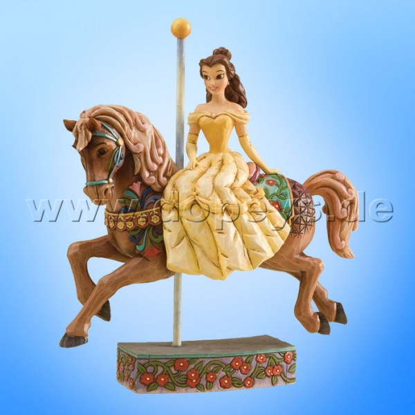 "Disney Traditions / Jim Shore Figur von Enesco. ""Princess Of Knowledge (Belle reitet auf Karussell-Pferd)"" 4011744."