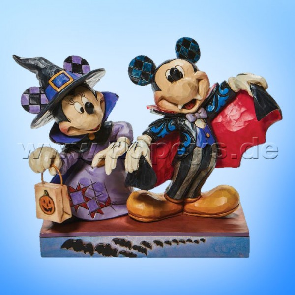 Disney Traditions - Terrifying Trick-or-Treaters (Hexe Minnie & Vampir Mickey) von Jim Shore 6008989