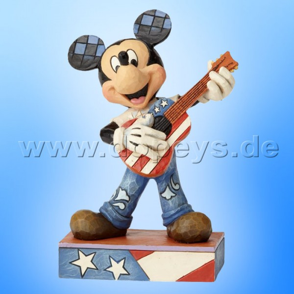 "Disney Traditions / Jim Shore Figur von Enesco ""Rock and Roll (Mickey Maus mit Gitarre)"" 6000968"