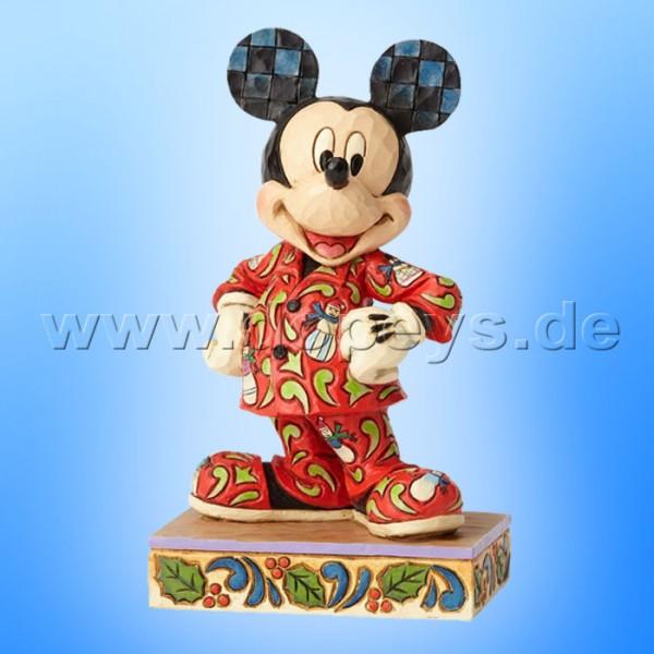 "Disney Traditions / Jim Shore Figur von Enesco ""Magical Morning (Mickey im Weihnachts-Schlafanzug)"" 4057935."