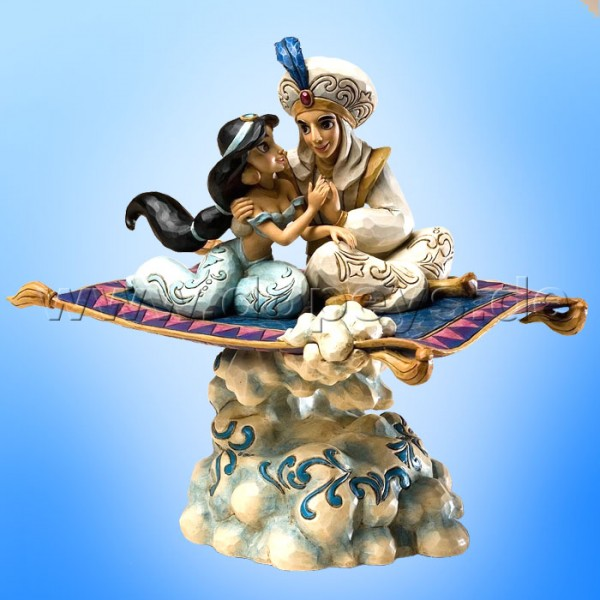 "Disney Traditions / Jim Shore Figur von Enesco. ""Magic Carpet Ride (Aladdin & Jasmin Spieluhr)"" 4020804."