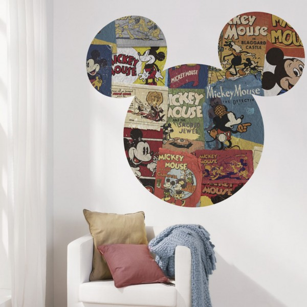 "Disney Wandsticker / Wandaufkleber Mickey Maus Kopf ""Mickey Head Billboard"" 127cm x 127cm"