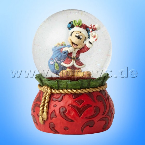 """Disney Traditions / Jim Shore Figur von Enesco """"Bringing Holiday Cheer (Weihnachtsmann Mickey Maus Schneekugel)"""" 6001360"""