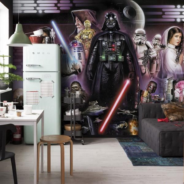 """Star Wars Fototapete """"Star Wars Darth Vader Collage"""""""