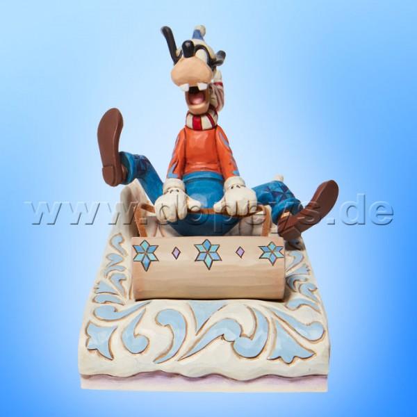 Disney Traditions - A Wild Ride (Goofy beim Rodeln) von Jim Shore 6008974