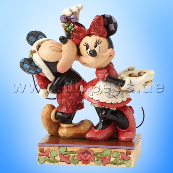 "Disney Traditions / Jim Shore Figur von Enesco. ""Under the Mistletoe (Mickey & Minnie Maus)"" 4039039."