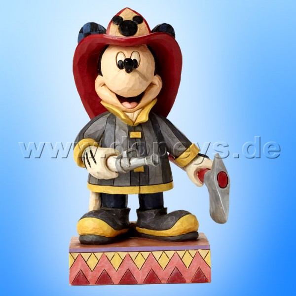 "Disney Traditions / Jim Shore Figur von Enesco. ""To The Rescue (Feuerwehrmann Mickey)"" 4049632."