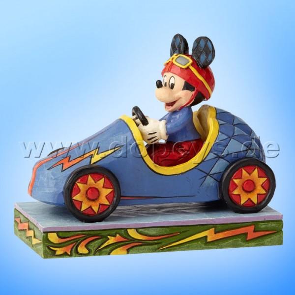 "Disney Traditions / Jim Shore Figur von Enesco ""Mickey Takes The Lead (Mickey beim Seifenkistenrennen)"" 6000974"