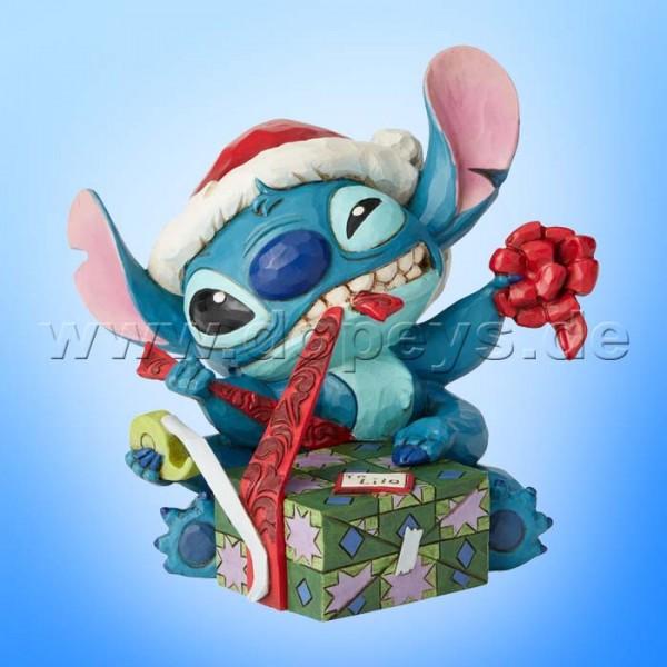 Bad Wrap (Weihnachtsmann Stitch mit Geschenk) Figur von Disney Traditions / Jim Shore - Enesco 6002833