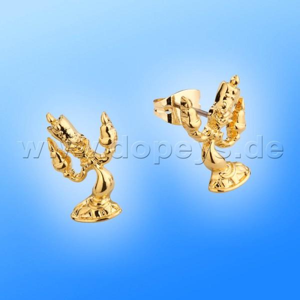 Disney Ohrstecker - Lumiere (Die Schöne und das Biest) in Gold von Couture Kingdom 12100421