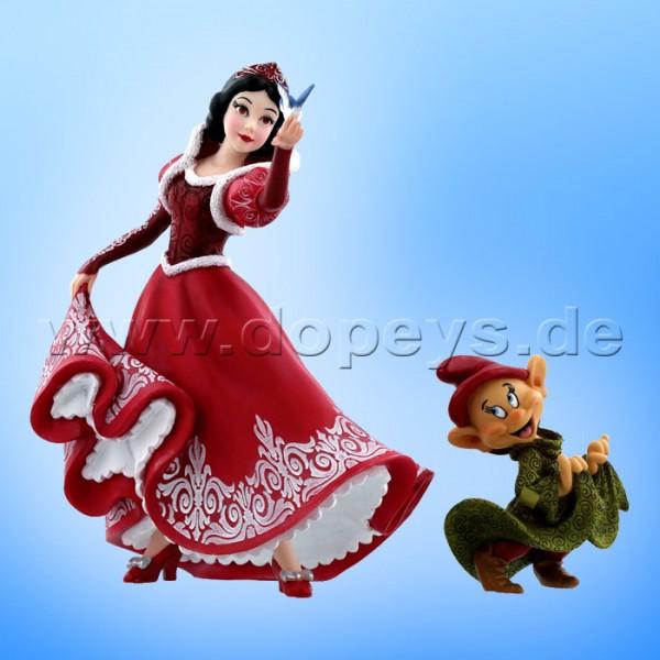 """Disney Showcase Collection von Enesco """"Weihnachts-Schneewittchen und Seppl"""" Figur Set 4058287 Haute Couture"""