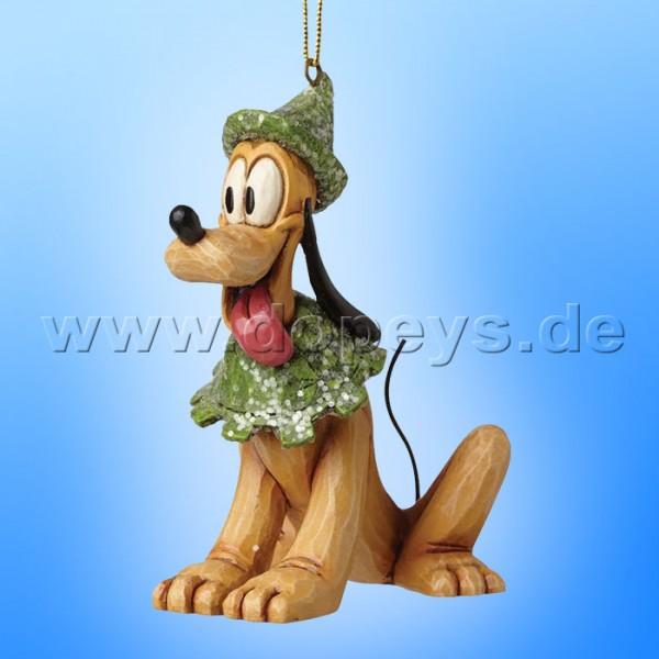 "Disney Traditions / Jim Shore Figur von Enesco ""Sugar Coated Pluto Ornament Baumanhänger"" A28241."