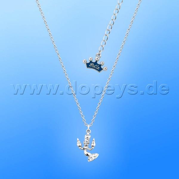 Disney Junior Halskette - Lumiere (Die Schöne und das Biest) in Weißgold von Couture Kingdom 12100401