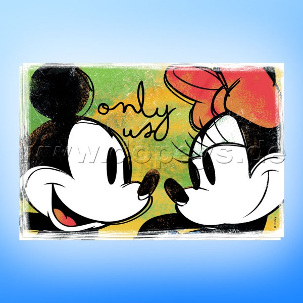 """Disney Platzdeckchen / Unterlage Mickey & Minnie Maus """"Grün"""" 2er Set im italienischen Design"""