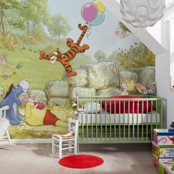 "Disney Winnie Puuh Fototapete ""Winnie Pooh Ballooning"""