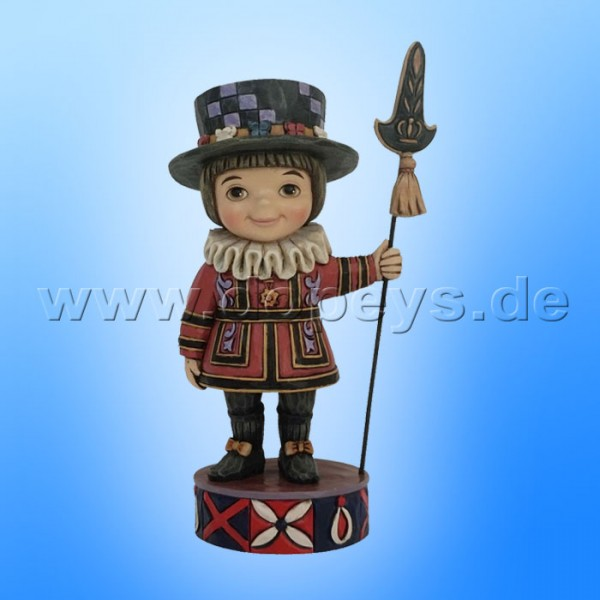 "Disney Traditions / Jim Shore Figur von Enesco ""Welcome to England (Small World Großbritannien)"" 4055424."