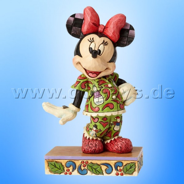 "Disney Traditions / Jim Shore Figur von Enesco ""Comfort And Joy (Minnie im Weihnachts-Schlafanzug)"" 4057936."