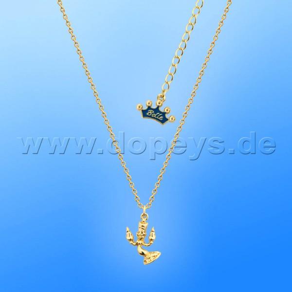 Disney Junior Halskette - Lumiere (Die Schöne und das Biest) in Gold von Couture Kingdom 12100391