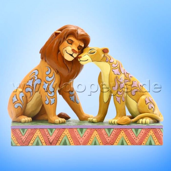 Savannah Sweethearts Simba und Nala kuscheln) Figur von Disney Traditions / Jim Shore - Enesco 6005961