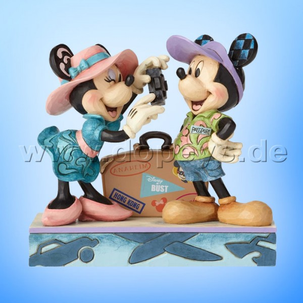 """Disney Traditions / Jim Shore Figur von Enesco """"Adventure Awaits (Mickey und Minnie als Reisende)"""" 4059731"""
