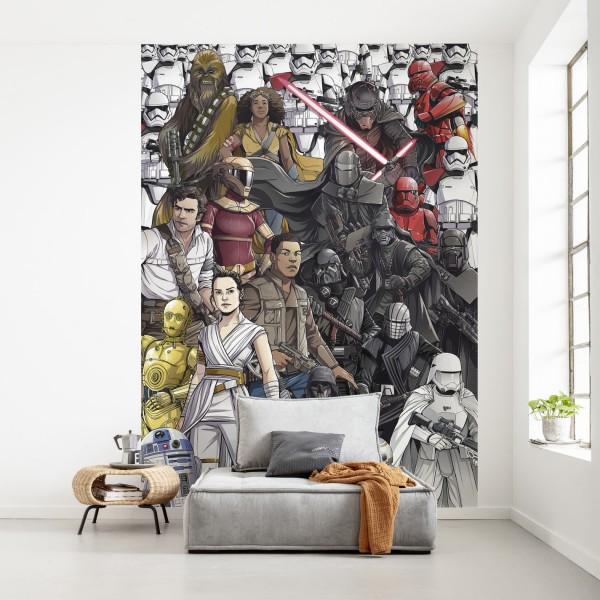 "Star Wars Vlies Fototapete ""Star Wars Retro Cartoon"""