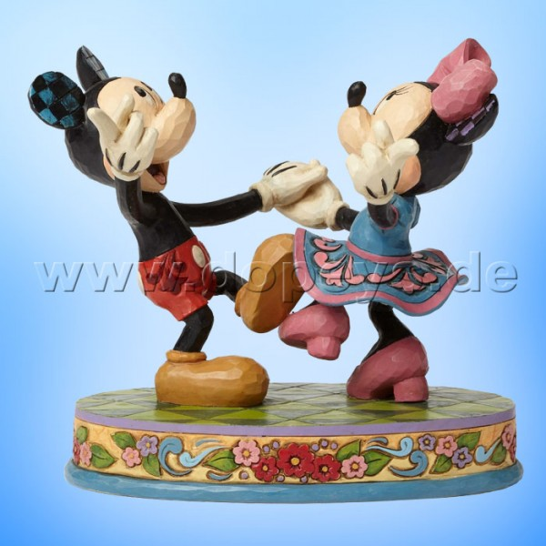 "Disney Traditions / Jim Shore Figur von Enesco. ""Swinging Sweethearts (Mickey & Minnie tanzen)"" 4049641."