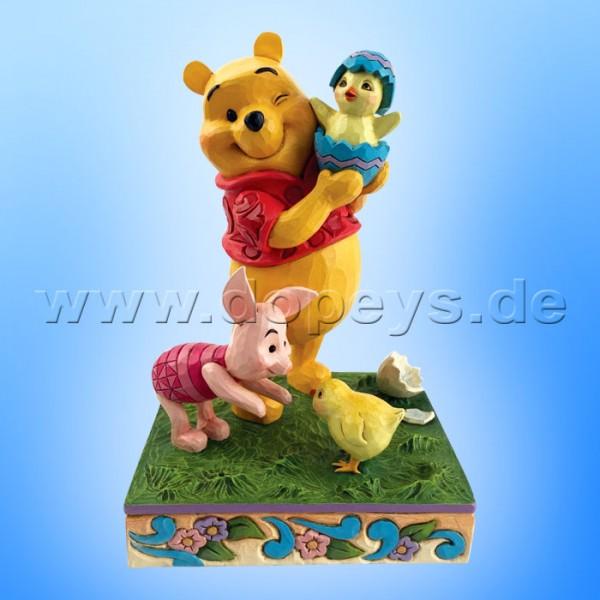 Disney Traditions - A Spring Surprise (Winnie Puuh & Ferkel mit Osterküken) von Jim Shore 6010103