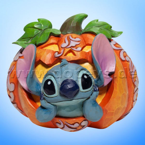 Disney Traditions - Stitch o' Lantern (Stitch in Kürbis-Laterne) von Jim Shore 6007080