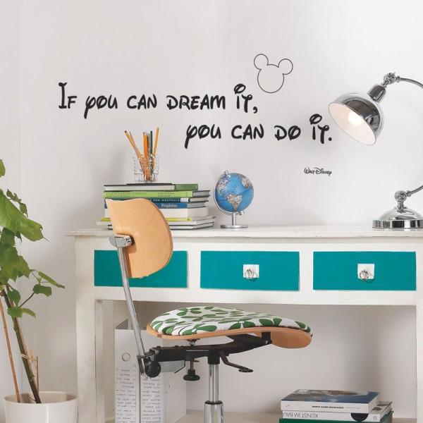 """Disney Wandsticker / Wandaufkleber Mickey Maus """"You can do it"""""""