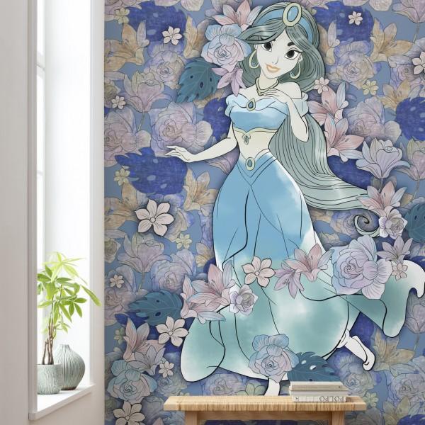 "Disney Vlies Fototapete Aladdin ""Jasmin Colored Flowers"""