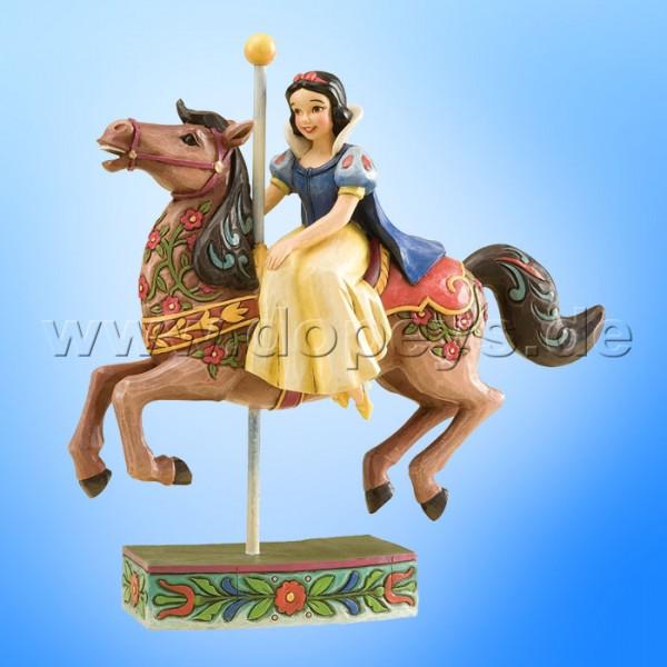 """Disney Traditions / Jim Shore Figur von Enesco. """"Princess Of Innocence (Schneewittchen reitet auf Karussell-Pferd)"""" 4011746."""