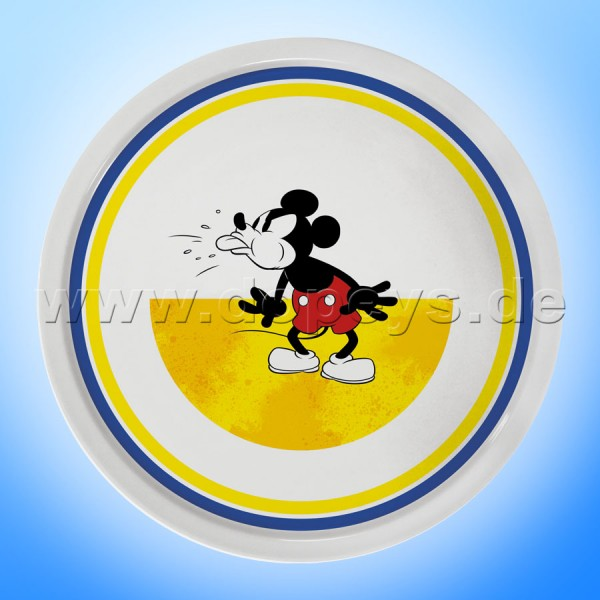 """Disney Pizzateller / Servierplatte / Tortenplatte """"Gelb"""" Mickey I Am, im italienischen Design PWM37AM-5G"""