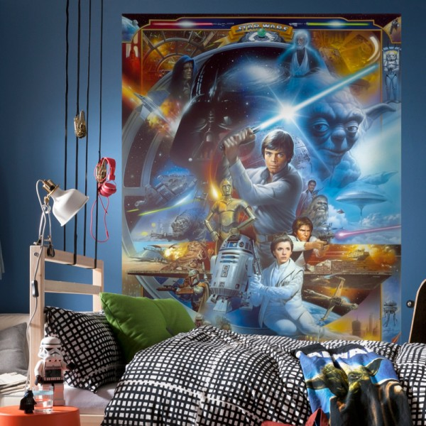 "Star Wars Fototapete ""Star Wars Luke Skywalker Collage"""