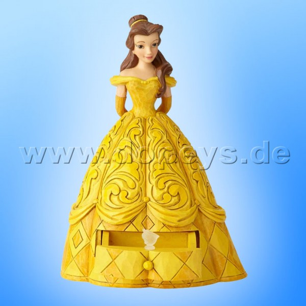 "Disney Traditions / Jim Shore Figur von Enesco ""Belle's Secret Charm (Belle mit Schmuckkasten)"" A29503"