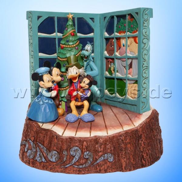 Disney Traditions - God Bless Us, Every One (Mickey's Weihnachtsgeschichte Baumstamm) von Jim Shore 6007060