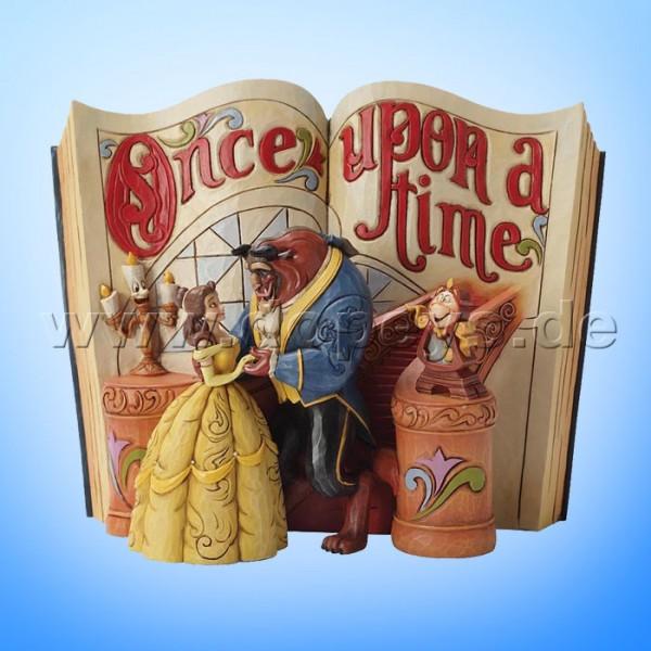 """Disney Traditions / Jim Shore Figur von Enesco. """"Love Endures (Die Schöne und das Biest Märchenbuch)"""" 4031483."""