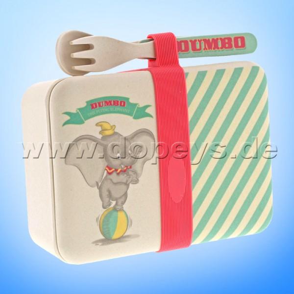 Dumbo Bambus Snackbox mit Besteck Set aus der Disney Enchanting Collection von Enesco A29575