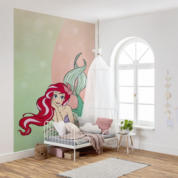 """Disney Vlies Fototapete Arielle, die Meerjungfrau """"Ariel Pastell"""""""