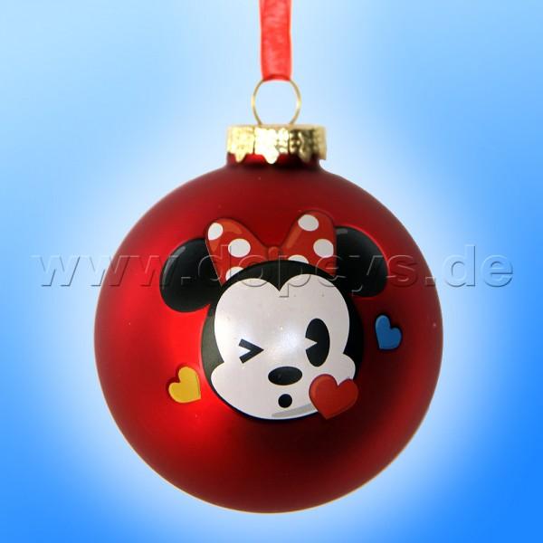 """Kurt S. Adler - Disney """"Baby Minnie mit Schleife"""" Weihnachtsbaumkugel / Glaskugel in Rot DN02005-F"""