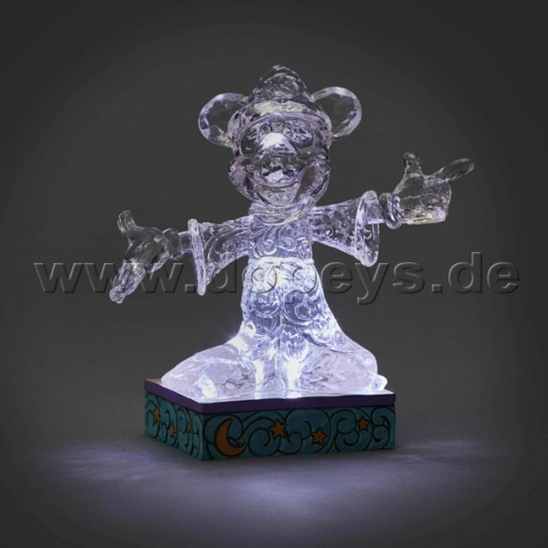 "Disney Traditions / Jim Shore Figur von Enesco ""Sorcerer Mickey Illuminated (Zauberer Mickey Maus Eis-Skulptur)"" 4059926"