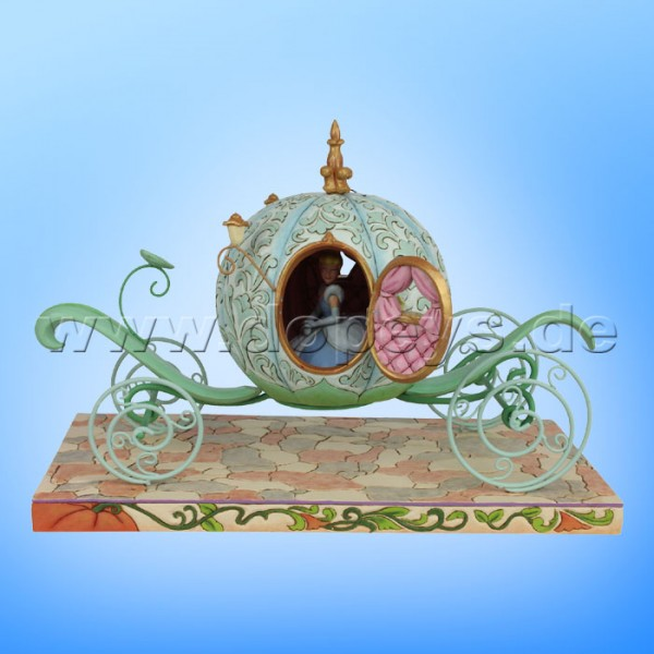 Disney Traditions - Enchanted Carriage (Kürbiskutsche mit Cinderella) sehr groß von Jim Shore 6007055