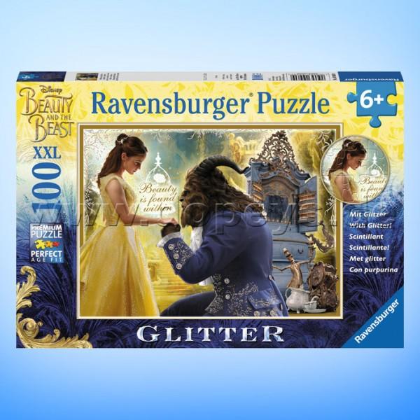 """Disney Glitzer-Puzzle Die Schöne und das Biest """"Belle und das Biest"""" von Ravensburger 10960"""