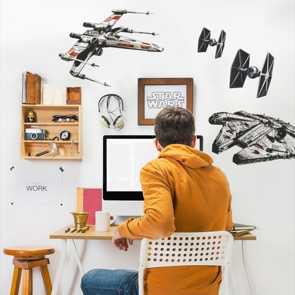 """Star Wars Wandsticker / Wandaufkleber """"Spaceships"""""""