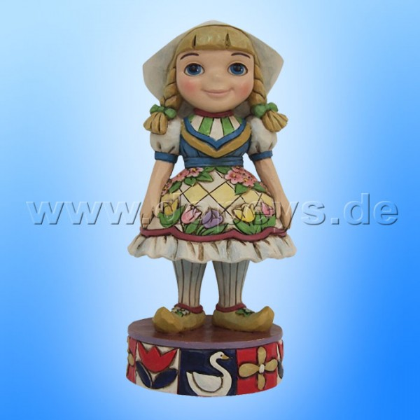 "Disney Traditions / Jim Shore Figur von Enesco ""Welcome to Holland (Small World Holland)"" 4055426."