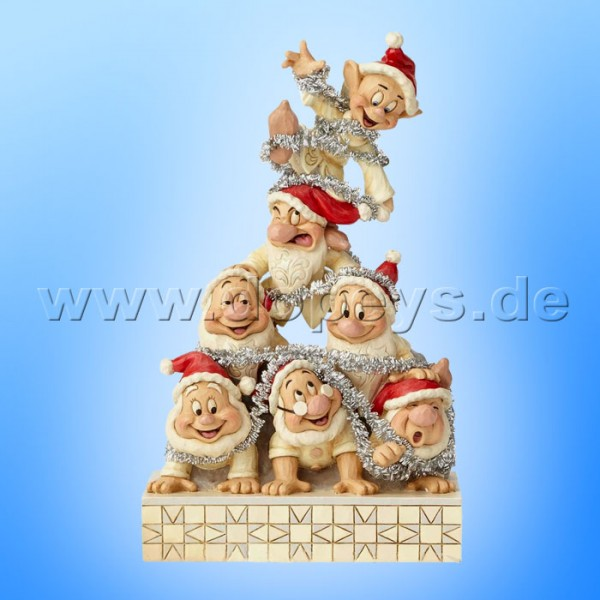 Disney Traditions Precarious Pyramid Seven Dwarfs By Jim Shore